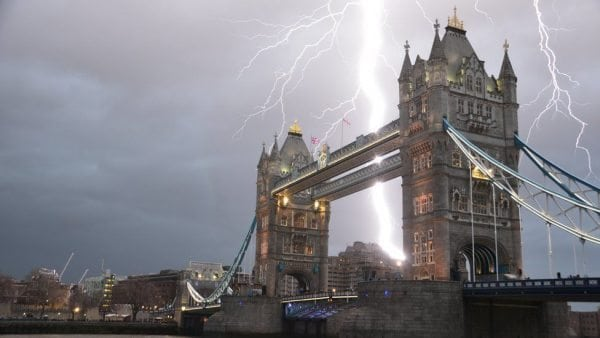 Famous buildings to be struck by lightning in the UK