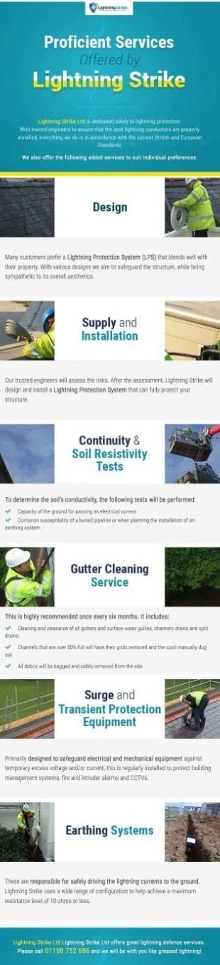 Proficient Services offered by lightning strike brochure